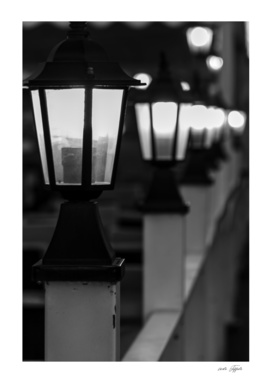 Line of lights in the night