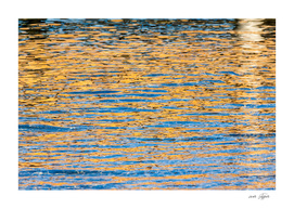 Water reflections on the sea