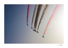 Turkish acrobatic aviation squadron flying