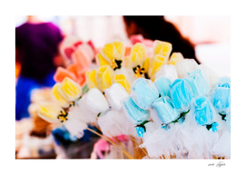 Colorful flowers at bazaar