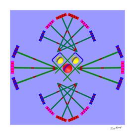 Croquet - Mallets Hoops and Balls Design