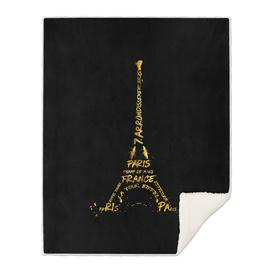 Digital-Art Eiffel Tower | black & golden
