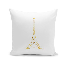 Digital-Art Eiffel Tower | white & golden