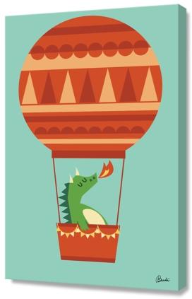 Dragon on Hot Air Balloon