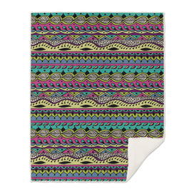 Aztec Pattern Cool Colors