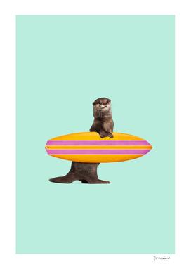 SURFING OTTER