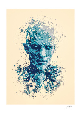 Night King, Game of Thrones splatter painting