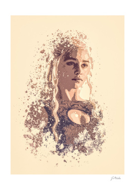 Emilia Clarke, Game Of Thrones splatter painting