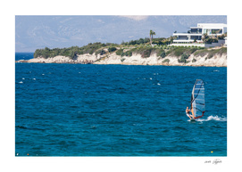Wind surfing in Turkey