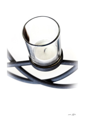 Candle in the glass