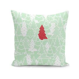 Elegant Green Christmas Trees Holiday Pattern