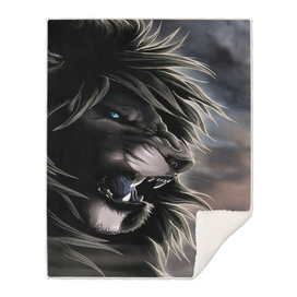 Angry lion digital art hd