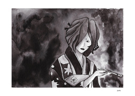 Hinoe - Ink Wash Painting (Fan Art)