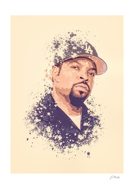 Ice Cube splatter painting