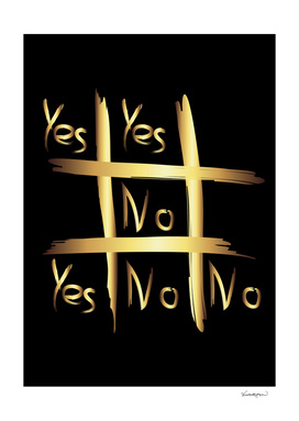 Tic Tac Toe - Yes or No Throw Pillow