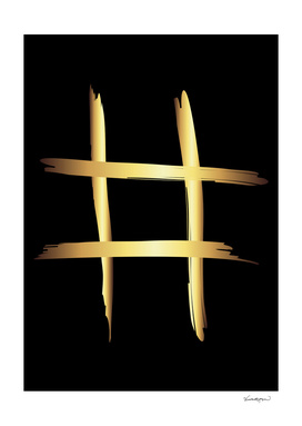 Abstract Gold Metallic Crossroads Throw Pillow