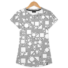 Geometric Maze (black and white) 1