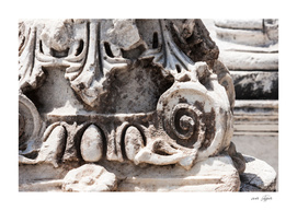 Detail of a column of the antique city of Ephesus (Turkey)