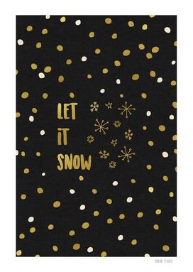 Let It Snow Gold