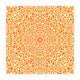 Mandala In Orange & Yellow Hues