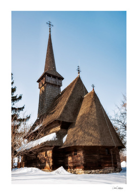 Traditional wooden Romanian Church