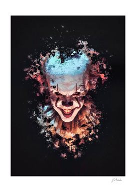 Pennywise Clown splatter painting
