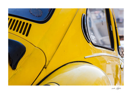 Yellow old car