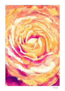 Abstract Colorful Rose - Flower Digital Artwork