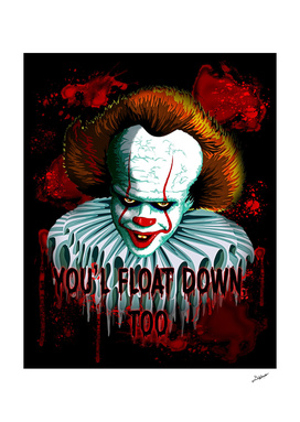 Pennywise IT 2017 Vector Graphics Artwork based on it