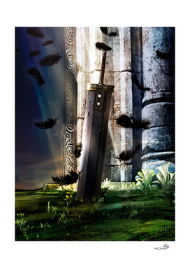 A Hero's sword - Final Fantasy VII Artwork