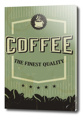 Coffee Poster 6 - Retro Green