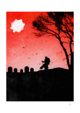 Gears of War *The Last Goodbye* Vintage Poster