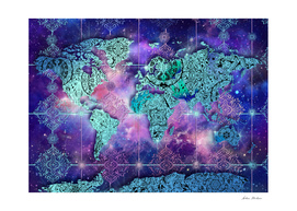 world map mandala space