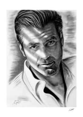 George Clooney In Black And White
