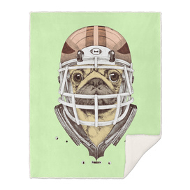 American Pug Football Yellow