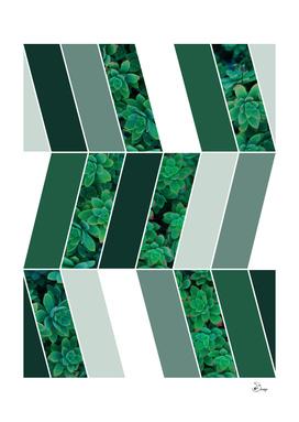 Green Herringbone