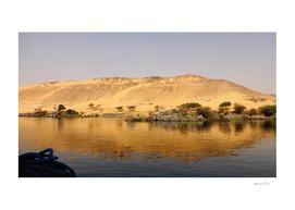 The golden beauty of the desert over the Nile
