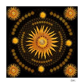 """Black & Gold Vault Mandala"""