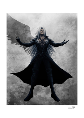 Sephiroth - One Winged Angel FFVII Artwork