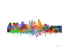philadelphia city skyline watercolor