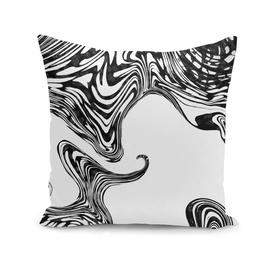 Black and White Liquid Marble Effect Design