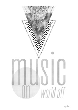 GRAPHIC ART Music on - World off   silver