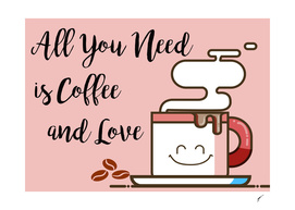 Coffee Poster 51 - Coffe and Love Pink