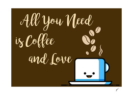 Coffee Poster 52 - Coffe and Love Brown