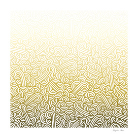 Gradient yellow and white swirls doodle