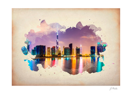 Dubai watercolor