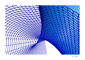 Blue Curved Surface