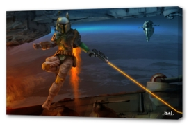 Boba Fett goes to battle