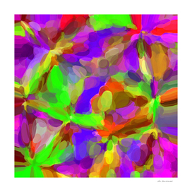 bubble circle pattern abstract in pink purple green orange