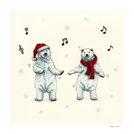 The polar bears wish you a Merry Christmas